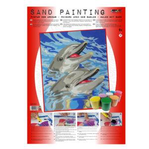 ARENART - Pintura con arena - Delfines