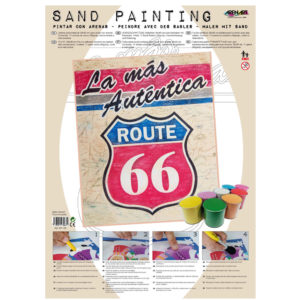 ARENART - Pintura con arena - Route 66