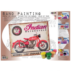 ARENART - Pintura con arena - Indian motorcycle