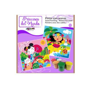 ARENART - Pintura con arena - Princesas del mundo