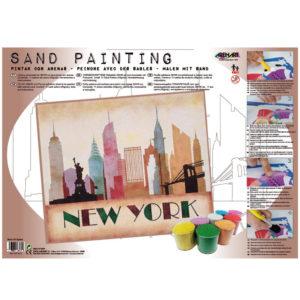 ARENART - Pintura con arena - New Yor Landscape