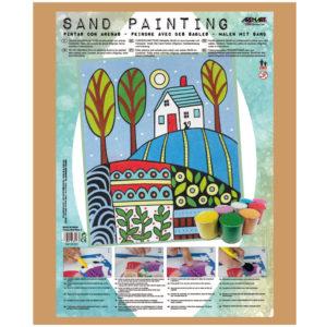 ARENART - Pintura con arena - Paisaje Naif Blue 1