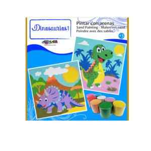 ARENART - Pintura con arena - Dinosaurios 1
