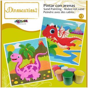 ARENART - Pintura con arena - Dinosaurios 2