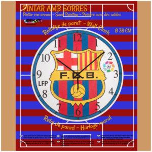 ARENART - Pintura con arena - Kit reloj  F.C. Barcelona - 38 cm