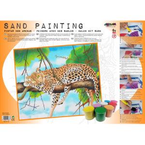 ARENART - Pintura con arena - Leopardo