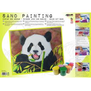 ARENART - Pintura con arena - Oso Panda