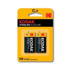 KODAK - Pilas alcalinas XtraLife C - LR14 - pack 2