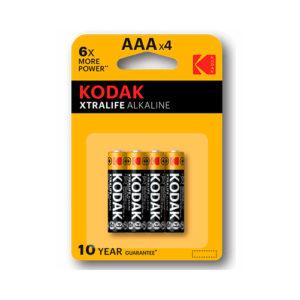 KODAK - Pilas alcalinas XtraLife AAA - LR3 - pack 4
