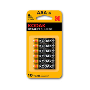 KODAK - Pilas alcalinas XtraLife AAA - LR3 - pack 6