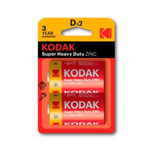 KODAK - Pilas salinas EHD D - LR20 - pack 2