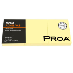 PROA - Notas adhesivas 50x40 mm  3 blocs - Classic