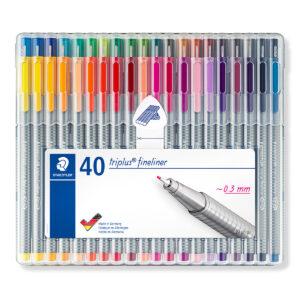 STAEDTLER - Fineliner ® 334 - 40 colores - STAEDTLER BOX